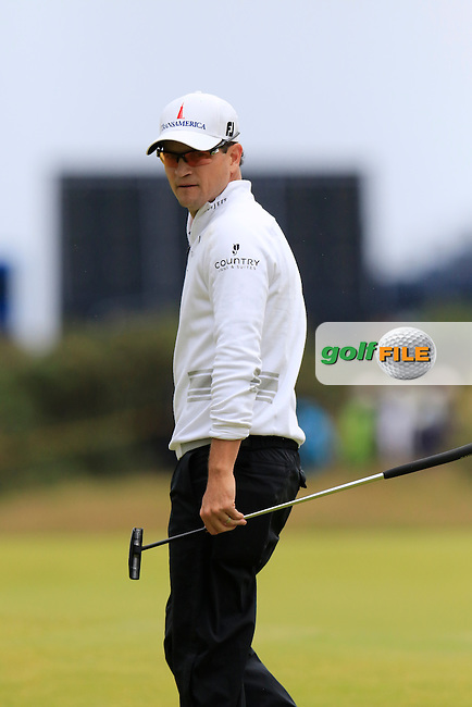 Zach JOHNSON (USA) on the 16th green during Monday's Final Round of the 144th Open Championship, St Andrews Old Course, St Andrews, Fife, Scotland. 20/07/2015.<br /> Picture Eoin Clarke, www.golffile.ie