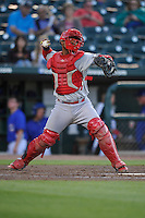 Memphis Redbirds Alberto Rosario (37) throws to second base during the Pacific Coast League game against the Iowa Cubs at Principal Park on June 6, 2016 in Des Moines, Iowa.  Memphis won 6-2.  (Dennis Hubbard/Four Seam Images)