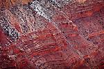 Redwall Limestone of the Grand Canyon from Hopi Point, Grand Canyon National Park, AZ, USA