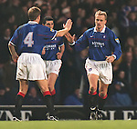 Jonas Then goal celebration with Richard Gough