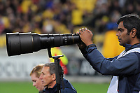 Photographer Raghavan Venugopal during the Super Rugby match between the Hurricanes and Crusaders at Westpac Stadium in Wellington, New Zealand on Saturday, 10 March 2018. Photo: Dave Lintott / lintottphoto.co.nz