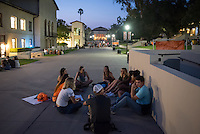 Members of the O-Team work to meet with incoming Occidental College students, the class of 2020, during Orientation, Aug. 25, 2016.<br /> (Photo by Marc Campos, Occidental College Photographer)