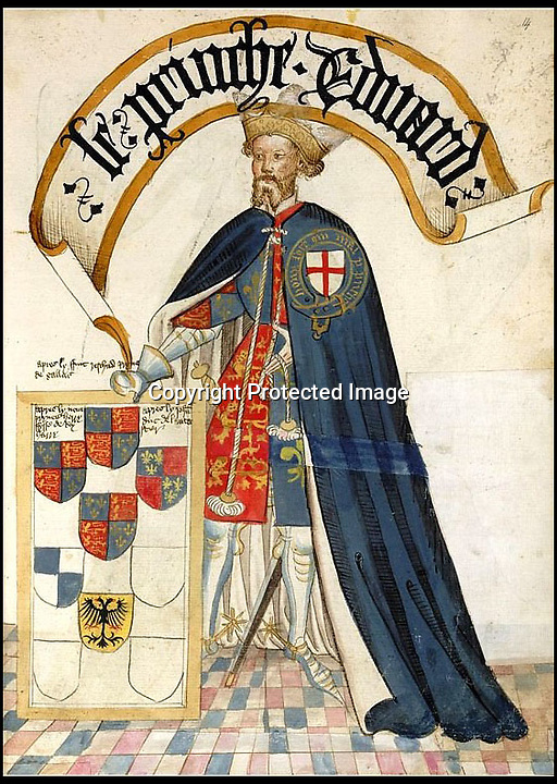 BNPS.co.uk (01202 558833)<br /> Pic MichaelJones/BNPS<br /> <br /> Edward, Prince of Wales as Knight of the order of the Garter, 1453 - from the Bruges Garter Book<br /> <br /> The Black Prince finally becomes whiter than white...<br /> <br /> The 637 year stain on the reputation of one of Britains medieval heroes has finally been removed after an authors meticulous research has proved the 'Massacre of Limoges' was actually committed by vengeful French soldiers against their own countrymen.<br /> <br /> Edward of Woodstock's reputation has been tarnished by the account of a French chronicler who claimed he ordered the massacre of 3,000 innocent people in the French town of Limoges during the Hundred Years War between England and France. <br /> <br /> The Prince, eldest son and heir of Edward III, has been known as The Black Prince since the 16th century because of the massacre and is still vilified in some quarters in France to this day.<br /> <br /> However, remarkable new evidence has emerged which suggests Edward, who was the ruler of Aquitaine in south-western France, did not order the massacre during the sack of Limoges on September 19, 1370.<br /> <br /> In fact, it was the French forces who butchered 300 of their countrymen as a reprisal, because they opened the gates of Limoges to the rampaging English.