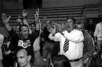 Roma  .Incontro  di boxe dilettanti.L'incitamento dei tifosi ai pugili.