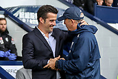 30th September 2017, The Hawthorns, West Bromwich, England; EPL Premier League football, West Bromwich Albion versus Watford; Marco Silva Manager of Watford and Tony Pulis Manager of West Bromwich Albion shake hands before the game