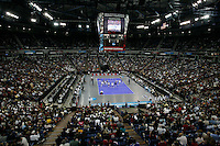 15 December 2007: Stanford's 25-30, 26-30, 30-23, 30-19, 8-15 loss against the Penn State Nittany Lions in the 2007 NCAA Division I Women's Volleyball Final Four championship match at ARCO Arena in Sacramento, CA.
