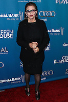 "WESTWOOD, LOS ANGELES, CA, USA - MARCH 22: Carrie Fisher at the Geffen Playhouse's Annual ""Backstage At The Geffen"" Gala held at Geffen Playhouse on March 22, 2014 in Westwood, Los Angeles, California, United States. (Photo by Xavier Collin/Celebrity Monitor)"