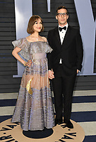 04 March 2018 - Los Angeles, California - Joanna Newsom, Andy Samberg. 2018 Vanity Fair Oscar Party hosted following the 90th Academy Awards held at the Wallis Annenberg Center for the Performing Arts. <br /> CAP/ADM/BT<br /> &copy;BT/ADM/Capital Pictures