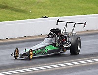 May 20, 2017; Topeka, KS, USA; NHRA top alcohol dragster driver James Stevens during qualifying for the Heartland Nationals at Heartland Park Topeka. Mandatory Credit: Mark J. Rebilas-USA TODAY Sports
