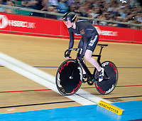 26th January 2020; National Cycling Centre, Manchester, Lancashire, England; HSBC British Cycling Track Championships;  Female 500m TT final Ellie Stone slow pan shot