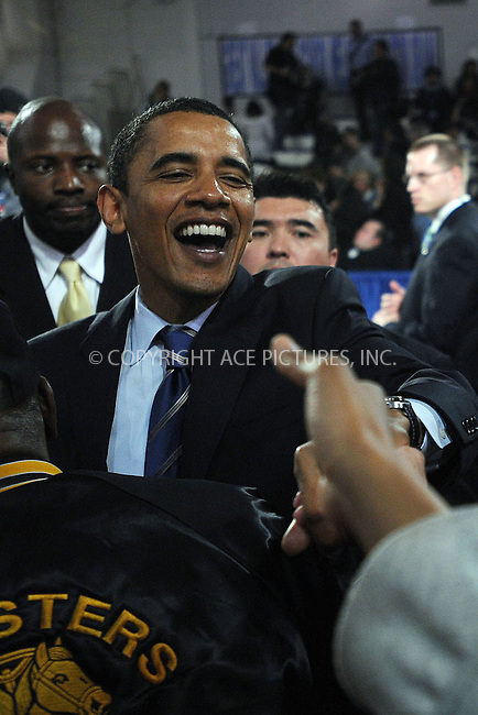 WWW.ACEPIXS.COM . . . . . ....April 9 2008, Malvern PA....Democratic presidential candidate Sen. Barack Obama addressed a Town Hall meeting at the Great Valley High School.....Please byline: KRISTIN CALLAHAN - ACEPIXS.COM.. . . . . . ..Ace Pictures, Inc:  ..(646) 769 0430..e-mail: info@acepixs.com..web: http://www.acepixs.com