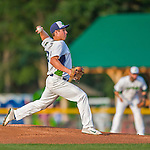 8 July 2015: Vermont Lake Monsters pitcher Evan Manarino on the mound against the Mahoning Valley Scrappers at Centennial Field in Burlington, Vermont. The Lake Monsters defeated the Scrappers 9-4 to open the home game series of NY Penn League action. Mandatory Credit: Ed Wolfstein Photo *** RAW Image File Available ****