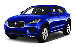 2019 Jaguar E-PACE R-Dynamic S 5 Door SUV angular front stock photos of front three quarter view