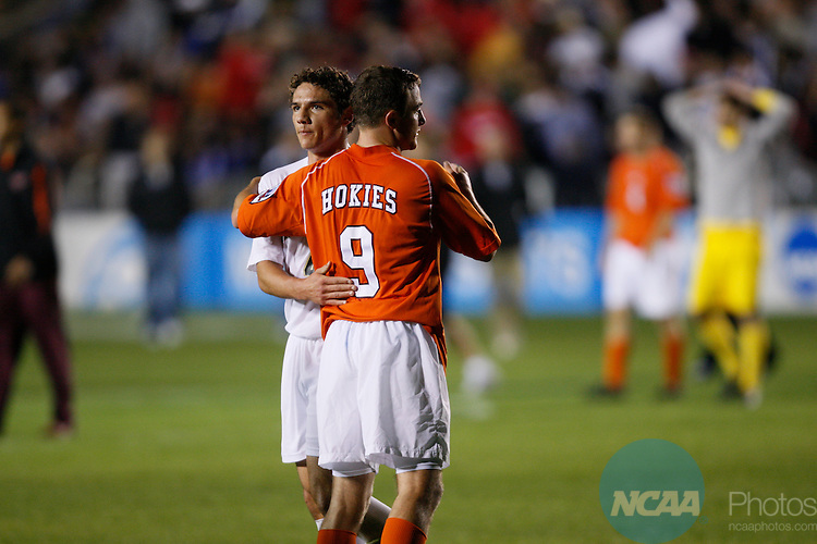 14 DEC 2007:  Wake Forest University takes on Virginia Tech University during the Division I Men's Soccer Championship held at the SAS Soccer Park in Cary, NC.   Wake Forest defeated Virginia Tech 2-0 to advance to the national championship title game.  Jamie Schwaberow/NCAA Photos