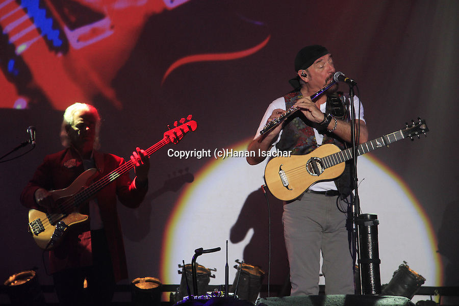 Israel, Ian Anderson plays ?Thick as a Brick? at Hangar 11 in Tel Aviv, with David Goodier on bass