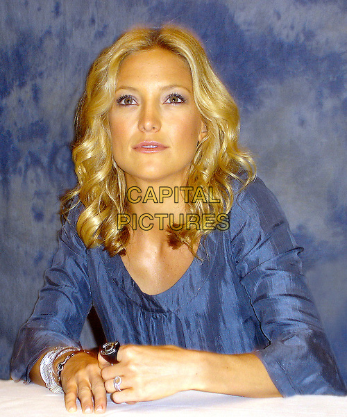 "KATE HUDSON        .Press conference for ""You, Me & Dupree"" at the Casa Del Mar Hotel, Santa Monica, USA..June 23rd, 2006.Ref: AW.headshot portrait rings blue.www.capitalpictures.com.sales@capitalpictures.com.© Capital Pictures."