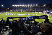 San Jose, CA - Friday April 14, 2017: Fans  prior to a Major League Soccer (MLS) match between the San Jose Earthquakes and FC Dallas at Avaya Stadium.