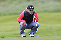 Romy Meekers (NED) on the 17th green during Round 3 of the Irish Women's Open Stroke Play Championship 2018 on Saturday 13th May 2018.<br /> Picture:  Thos Caffrey / Golffile<br /> <br /> All photo usage must carry mandatory copyright credit (&copy; Golffile | Thos Caffrey)