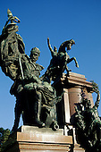 Buenos Aires, Argentina. Statue of General San Martin, Plaza San Martin.