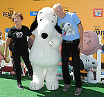 Jeanne Schulz and her son Craig Schulz arriving at The Peanuts Movie premiere held at the Regency Village Theaters Los Angeles, CA. November 1, 2015