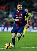 4th November 2017, Camp Nou, Barcelona, Spain; La Liga football, Barcelona versus Sevilla; Leo Messi gets into the box alone