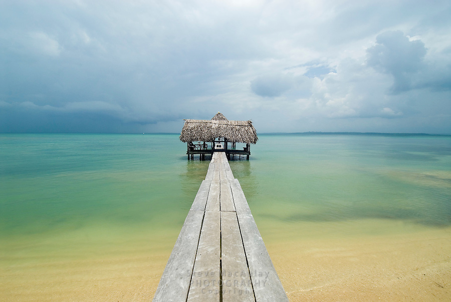 Dock-end open hut, Bocas Del Toro, Panama