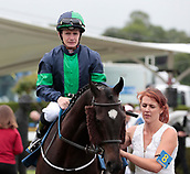 June 10th 2017, Chester Racecourse, Cheshire, England; Chester Races Horse racing; Kieran O'Neill on board Arcane Dancer in the parade ring for the JJ Whitley Fiullies Handicap