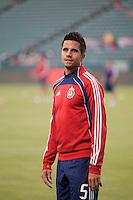 CARSON, CA – SEPTEMBER 10:  Chivas USA midfielder Marcelo Saragosa (5) during warm-ups at Home Depot Center, September 10, 2010 in Carson California.