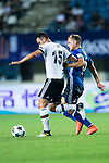 Besiktas Istambul Midfielder Oguzhan Ozyakup (L) fights for the ball with zFC Schalke Midfielder Johannes Geis (R) during the Friendly Football Matches Summer 2017 between FC Schalke 04 Vs Besiktas Istanbul at Zhuhai Sport Center Stadium on July 19, 2017 in Zhuhai, China. Photo by Marcio Rodrigo Machado / Power Sport Images