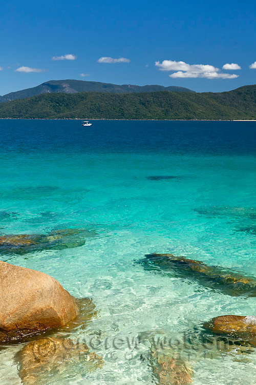 Clear waters of Nudey Beach.  Fitzroy Island National Park, Cairns, Queensland, Austtralia