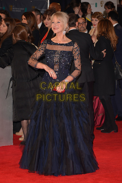 LONDON, ENGLAND - FEBRUARY 16: Dame Helen Mirren attends the EE British Academy Film Awards 2014 at The Royal Opera House on February 16, 2014 in London, England. <br /> CAP/PL<br /> &copy;Phil Loftus/Capital Pictures