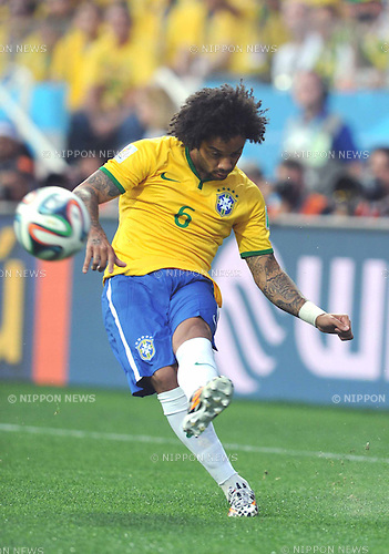 Marcelo (BRA), JUNE 12, 2014 - Football / Soccer : FIFA World Cup Brazil 2014 Group A match between Brazil 3-1 Croatia at Arena de Sao Paulo in Sao Paulo, Brazil. (Photo by SONG Seak-In/AFLO)