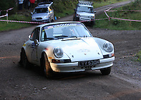 Peter McDowell / Peter Weall at Junction 6, on Special Stage 1 Craigvinean in the Colin McRae Forest Stages Rally 2012, Round 8 of the RAC MSA Scotish Rally Championship which was organised by Coltness Car Club and based in Aberfeldy on 5.10.12.