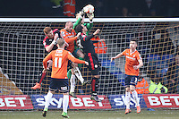 Jonathan Mitchell of Luton Town collects the ball during the Sky Bet League 2 match between Luton Town and Crawley Town at Kenilworth Road, Luton, England on 12 March 2016. Photo by David Horn/PRiME Media Images.