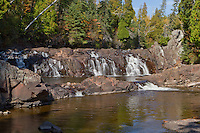 Two Step Falls located in Tettegouche State Park along the North Shore of Lake Superior.