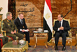 Egyptian President Abdel Fattah al-Sisi meets with Russian Defence Minister Sergei Shoigu, in Cairo, Egypt, on November 29, 2017. Photo by Egyptian President Office