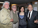 Martin Charnin, Thomas Meehan, Producer Arielle Tepper Madover, Charles Strouse & the cast from Broadway's iconic musical ANNIE celebrate creator Charles Strouse's 85th Birthday at The Palace Theatre in New York City on June 06, 2013.