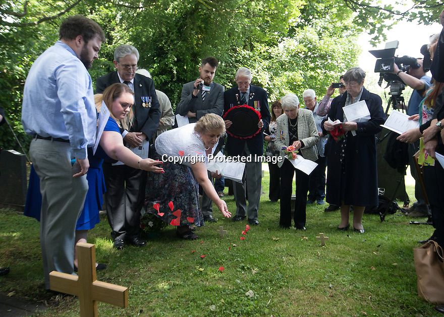 "11/06/16<br /> <br /> One hundred years have passed since Private Charles Gordon Shaw was fatally wounded in the Battle of the Somme, but today is the first day his family have been able to grieve at his graveside.<br /> <br /> Full Story: https://fstoppressblog.wordpress.com/private_charles_shaw/<br /> <br /> <br /> That's because his grave was ""lost"" during a changeover in church vicars and when the Commonwealth War Graves Commission tried to place a headstone on his plot in 1926, the new vicar was unable to tell them where the body was buried.<br /> <br /> But today, thanks to detective work by his  niece, 83-year-old Dorris Innes from Spondon, together with an amateur historian who located the 'lost' grave, Private Shaw's family were finally able to pay their respects to the war hero, with a commemorative service at his grave, exactly 100 years to the day since he was buried at Christ Church in Stonegravels, Chesterfield.<br /> <br /> All Rights Reserved, F Stop Press Ltd."