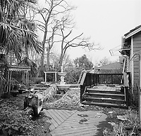 Damaged home in Lakeview area of New Orleans, six months post Hurricane Katrina