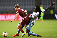 Cristian Ansaldi of Torino FC and Jordan Lukaku of SS Lazio compete for the ball during the Serie A football match between Torino FC and SS Lazio at stadio Olimpico in Turin ( Italy ), June 30th, 2020. Play resumes behind closed doors following the outbreak of the coronavirus disease. <br /> Photo Image Sport / Insidefoto