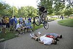 World record holder biker, Thomas Oehler, biking around the University of Kentucky campus on August 20, 2011. Photo by Mike Weaver | Staff