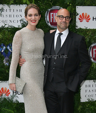 Felicity Blunt, Stanley Tucci at Charity ball in aid of One For The Boys, a charity raising awareness of male forms of cancer, encouraging men to get checked regularly. Evening celebrates the launch of the 2016 campaign film The Difference, at Victoria and Albert Museum, London, England June 12, 2016.<br /> CAP/JOR<br /> &copy;JOR/Capital Pictures /MediaPunch ***NORTH AND SOUTH AMERICAS ONLY***