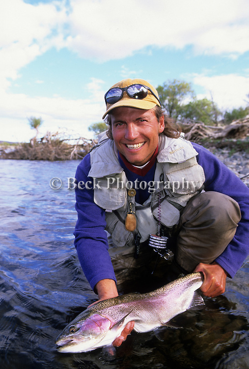 Rainbow trout release Argentina