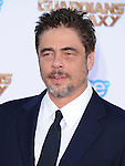 Benicio Del Toro<br />  attends The Marvel Studios World Premiere GUARDIANS OF THE GALAXY held at The Dolby Theatre in Hollywood, California on July 21,2014                                                                               &copy; 2014Hollywood Press Agency