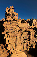 746000017 strange sandstone formations stand watch over the landscape in fantasy canyon a blm property in the middle of a working oil field in northeastern utah united states