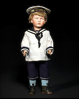 BNPS.co.uk (01202 558833)<br /> Pic: Bonhams/BNPS<br /> <br /> ***Please Use Full Byline***<br /> <br /> Franz Schmidt &amp; Co 1263 Bisque Head Character Doll. <br /> <br /> <br /> A creepy collection of almost 100 'lifelike' dolls modelled on children has emerged for sale with a whopping half a million pounds price tag. <br /> <br /> The eerie-looking toys were made in Germany in the early 20th century as dollmakers strived to produce dolls with realistic human features.<br /> <br /> The collection of 92 dolls, which includes some of the rarest ever made, has been pieced together by a European enthusiast over the past 30 years.<br /> <br /> It is expected to fetch upwards of &pound;500,000 when it goes under the hammer at London auction house Bonhams tomorrow (Weds).