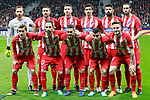 Atletico de Madrid's team photo with Jan Oblack, Gabi Fernandez, Lucas Hernandez, Stefan Savic, Diego Costa, Diego Godin, Antoine Griezmann, Juanfran Torres, Koke Resurreccion, Angel Correa and Saul Niguez during Europa League Quarter-finals, 1st leg. April 5,2018. (ALTERPHOTOS/Acero)