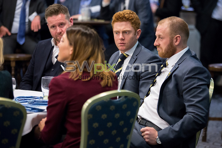 Picture by Alex Whitehead/SWpix.com - 10/03/2015 - Cricket - YCCC Sponsors Evening - Headingley Stadium, Leeds, England - Yorkshire CCC Sponsors Evening. Jonny Bairstow and Andrew Gale.