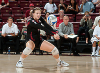 STANFORD, CA - September 2: Gabi Ailes during a volleyball match against UC Irvine, September 2, 2010 in Stanford, California. Stanford won 3-0.
