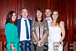 Brid Devane, Patrick Hickey, Mary Browne, Stan Divane and Rachel McCarthy at the Castleisland AFC gala in the River Island Hotel on Saturday night